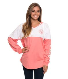 From a study sesh in the library to a fall bonfire, this new v-neck hoodie from Southern Shirt Co is the preppiest hoodie money can buy. It is a super soft hoodie and it is a must have this season and next season and the season after that and so on and so forth. #SouthernShirtCo #CountryClubPrep #SouthernShirt #Hoodie