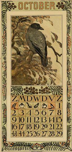Theodoor van Hoytema, calendar 1910 October