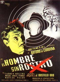 """""""El Hombre sin Rostro"""" Mexican Movie Poster"""