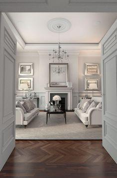 Outstanding >> Home Interior Design Ideas xx Dark Living Rooms, Formal Living Rooms, My Living Room, Living Room Decor, Dining Room, Cottage Living, Modern Living, Interior Exterior, Home Interior Design