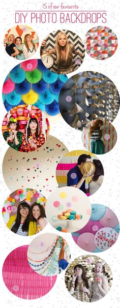 Our Favourite 15 DIY Photo Backdrops for Parties