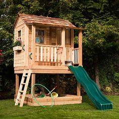 Outdoor Living Today 6x6 Little Squirt Playhouse with Sandbox - Slide Not Included | LSP66SBOX | Outdoor Living Ugh! Perfect Playhouse!!