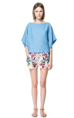 FLOWING PRINTED SHORTS - Shorts - Woman - ZARA United States
