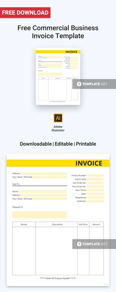 Email Invoices Awesome Free Blank Commercial Invoice  Template Commercial And Free