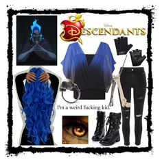 """Daughter of Hades (Descendants OC)"" by takemetothecookies ❤ liked on Polyvore featuring Hello Kitty, Disney, Coast, River Island and Casall"