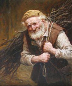 За хворостом – картина художника Андрея Шишкина