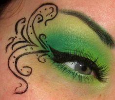 Tinker Bell Makeup/ Poison Ivy