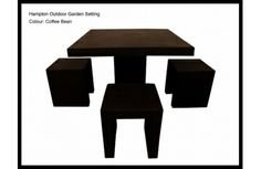 5 Piece 'Hampton' Indoor/Outdoor Dining Setting - Coffee Bean