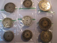 9 Vintage Wrist Watch Dials Faces Steampunk by HandzofTime on Etsy, £3.71