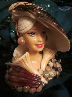 Seashell decorated mermaid.