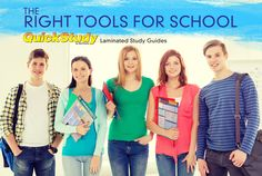 QuickStudy laminated study guides, books, posters, easels, and flash cards are a must-have going back to school.