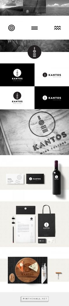 Branding, graphic design and packaging for Κantos wine culture on Behance curated by Packaging Diva PD. Graphic design elements representing the Greek sun, the vineyards and the sea.