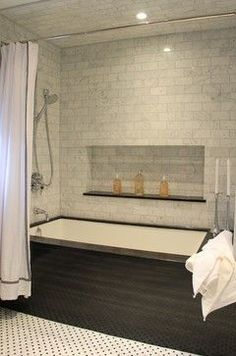 Wood surround for built-in tub