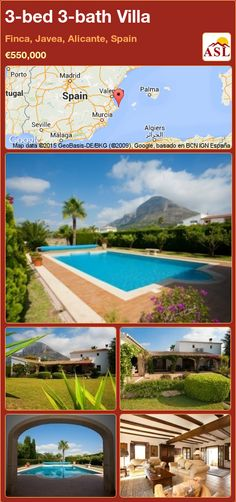 3-bed 3-bath Villa in Finca, Javea, Alicante, Spain ►€550,000 #PropertyForSaleInSpain