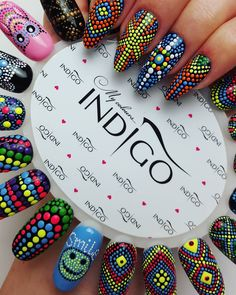 "Polubienia: 418, komentarze: 5 – ❤ Dreams Come True ❤ (@love_nails_emilia) na Instagramie: ""KropeczkoweLove ! ❤ #kropeczkowelove #kropki #kropeczki #dots #dotsnails #nail #nails #nailart…"" Dot Nail Designs, Square Nail Designs, Acrylic Nail Designs, Dot Nail Art, Polka Dot Nails, Nail Art Wheel, Indigo Nails, Modern Nails, Pretty Nail Art"