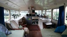 Brandy Bus   A double-decker bus converted into a home on wheels. Owned and shared by Karen Fraser