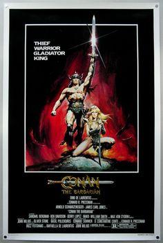 Conan The Barbarian Vintage American Film Poster