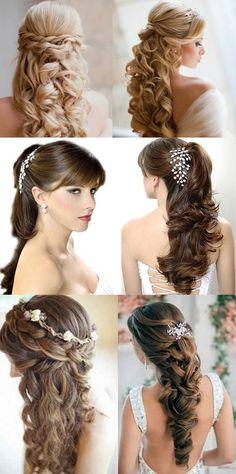 Easy Hairstyles For Long Hair, Indian Hairstyles, Girl Hairstyles, Beautiful Hairstyles, Wedding Tiara Hairstyles, Digital Art Girl, Hair Designs, Fruit Carvings, Long Hair Styles