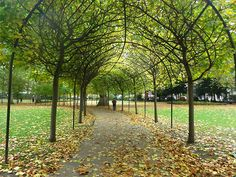 Russell square in Bloomsbury, London.