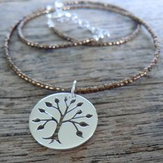 tree of life cut-out on copper seed bead from Beadorable Designs