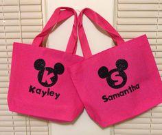 Mickey monogram bags - cricut