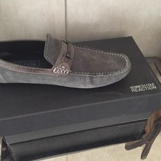 e29c12cdaca Kenneth Cole reaction loafers men s Kenneth Cole reaction grey suade  loafers size 101 2 med