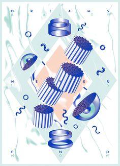 Jpeople Magazine & Ucom Acrobatics - Dreams Never End - Graphic Art Poster Design by Vicente García Morillo