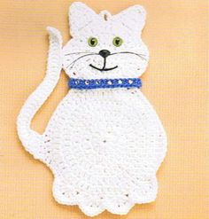 Cat (Many other animals) Hot Pad - Book from Annie's Attic