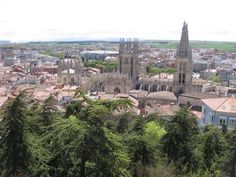 Burgos, Spain -- view of city from castle.