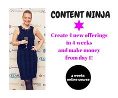 Ready to make money today and become a content ninja?