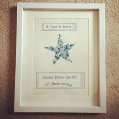 Personalised Baby Frame available in any colour.   'A Star is born'.   Creations_for_occasions@outlook.com   £35