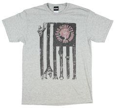 Gas Monkey Garage Mens Tools and Stripes T-Shirt
