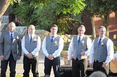 rustic & country wedding groomsmen