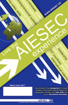 AIESEC Banner - Live the AIESEC experience