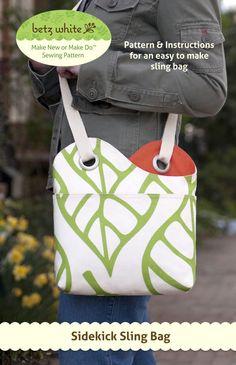 Sidekick Sling bag pattern by Betz White. Super cute!!