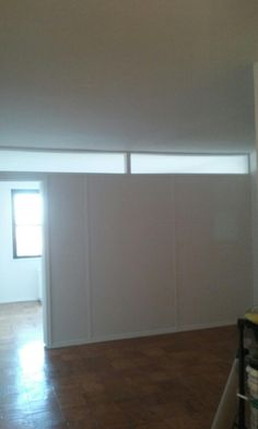 how to build a temporary wall partition