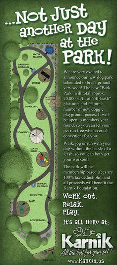 Karnik - Dog Park / Foundation Rack Card by Clint Doerfler, via Behance. Great Design.