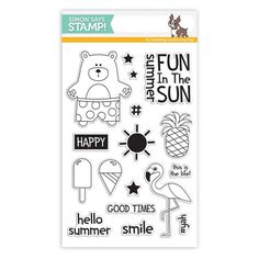 RESERVE Simon Says Clear Stamps ZOMER DIEREN SSS101614 Among The Stars Voorbeeldweergave