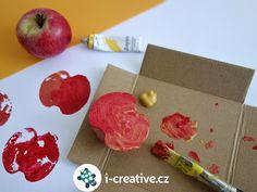 září tvoření - otisky jablka