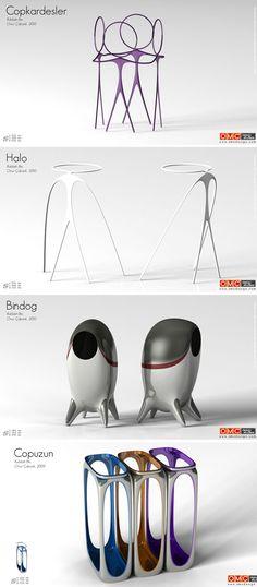omc design- trash bins