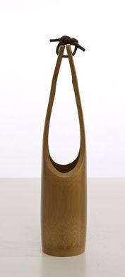 vaso giapponese in bambù. diametro cm.6xh.32