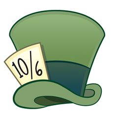 The Mad Hatter's hat [as an emoji] (Drawing by Disney) Mad Hatter Cartoon, Mad Hatter Drawing, Mad Hatter Hats, Mad Hatter Tea, Mad Hatter Disney, Mad Hatters, Alice In Wonderland Printables, Alice In Wonderland Clipart, Alice In Wonderland Drawings