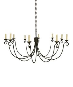 Look what I found on #zulily! Weathered Zinc 10-Light Chandelier #zulilyfinds $289.99 45'' W x 19.75'' H x 45'' D Steel Requires 10 25 W candelabra bulbs (not included)