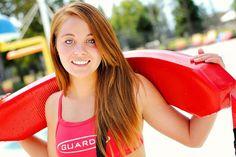 Mad Photo & Design | Le Mars, IA Portrait Photography | Senior Girl Photo pool lifeguard
