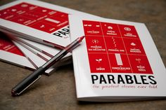 "This is a journaling tool created for a ""Parables"" sermon-series."