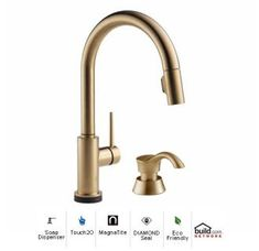 View The Delta 9159T DST SD Trinsic Pull Down Kitchen Faucet With On