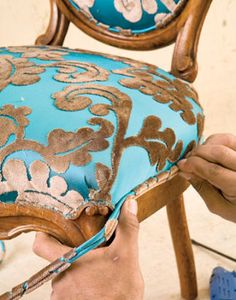 Furniture reupholstery Antique chair reupholster Furniture upholstery Reupholstery Reupholster furniture Diy furniture - Reupholstering a Chair - Furniture Reupholstery, Reupholster Furniture, Chair Upholstery, Upholstered Furniture, Furniture Makeover, Painted Furniture, Funky Furniture, Furniture Outlet, How To Reupholster