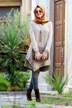 Image about ﺭﻣﺰﻳﺎﺕ in hijaby by ∞ dɹ̣gɹ̇j on We Heart It Islamic Fashion, Muslim Fashion, Modest Fashion, Girl Fashion, Fashion Outfits, Street Hijab Fashion, Abaya Fashion, Fashion Muslimah, Muslim Girls