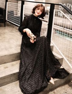 weiyin 2019 Black Long Sleeves A-line Evening Dresses Muslim Fashion Elegant Women Party Dress Long Formal Dresses Prom Dresses Long With Sleeves, Party Dresses For Women, Dress Long, A Line Evening Dress, Evening Dresses, Muslim Fashion, Elegant Woman, Lace Sleeves, Special Occasion Dresses