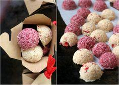 The Urban Poser:: Vanilla-Strawberry AND Raspberry Coconut Macaroons (Dairy/Gluten/Egg/CaneSugar Free)